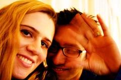 Couple heureux et amoureux