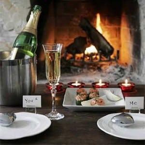 Table pour diner en amoureux