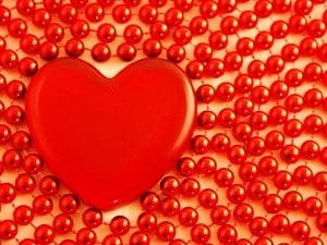 Perles et coeur