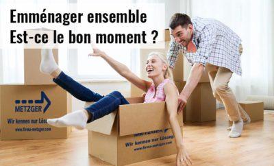 Couple emménage ensemble